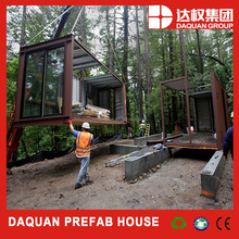 luxury light steel villa/prefab shipping container house for sale