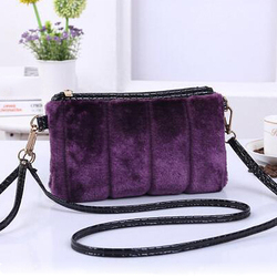 2016 winter woman fur bag latest clutch purses fashionable women bags SY6993