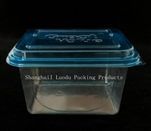 CLEAR PET PLASTIC BOX FOR WET FLOOR WIPE
