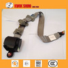 Emergency locking 3-point seat belt with safety seat belt webbing buckle, tongue, retractor