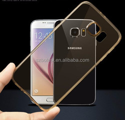 Silicone soft phone case for samsung S6 edge color clear phone cover case
