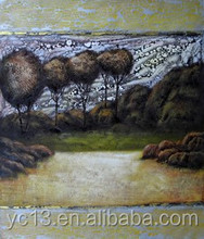 New arrival strong decoration effect art painting,tree beside the road