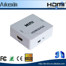 HDMI 1080P to VGA Video HDTV Converter Adapter Audio Cable For PC Laptop DVD