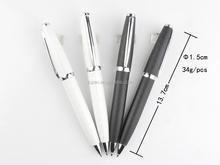 Engraved twist mechanism metal ball pen, slim barrel customized logo metal pen