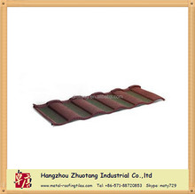 Color Unfading Durable Roman / Wave Stone Coated Metel Roof Tile
