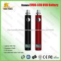 Caliente en alibaba itsuwa usb de carga lateral 650 mah/900 mah/1100 evod mah de la batería