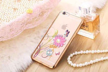 Top level quality DITA Electroplated Color Drawing with diamond soft case for iPhone 6S/6S Plus