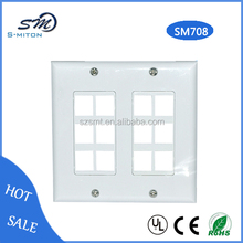 12 ports clear faceplate for computer cable