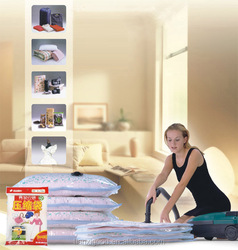 vacuum compressed storage saving space bags,clothing.duvets.bedding.pilows.curtains