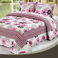 High quality cotton bed sheet patchwork quilt coverlet
