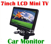7 inch Wide View Mini LCD Analog TV Color Car Monitor Player Support SD/MMC /AVI,Audio Output,FM Optional
