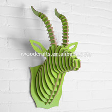 el estilo chic de cabra de madera la cabeza colgando el uso de la decoración de la decoración del hogar
