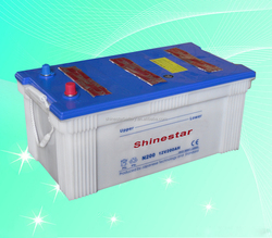 JIS/DIN Dry Charged Car Battery 12V 200AH N200 drained car battery scrap
