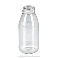 Small wholesale glass milk bottle