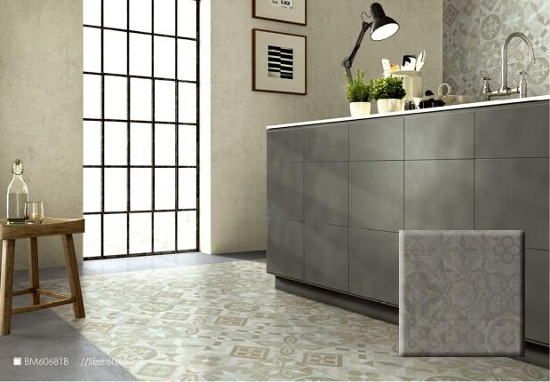 Keuken en wasruimte marokkaanse tegels vloer cement marokkaanse ...