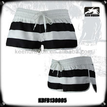 Women's fashion sweety swimwear white and black stripe sexy beach shorts