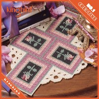 High Quality Fabric Cross Stitch For Embroidery Cup Coaster