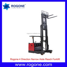 China Fork 1.5t 2t 4 Direction Reach Electric Stacker For Narrow Aisle Electric Reach NVA Forklift