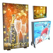 Freestanding Double Sided Advertising Display Stretch Fabric Frame With Lighting