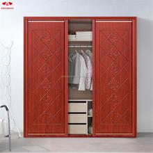 Online hot sales bedroom furniture /red wooden wardrobe/cheap wardrobe
