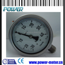 1.5'' all stainless steel back type oil filled pressure gauge