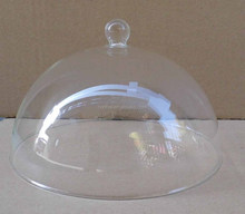 2015 hotsale hand made glass cake dome, glass cheese dome
