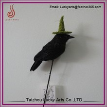Taizhou Lucky Arts imaginative design Decorative Gifts feather crow