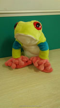 plush green the frog stuffed big eyes frog