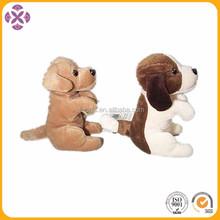 wholesale Promotional cute stuffed animal Soft stuffed plush sitting dog gift toys