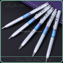 2015 High quality 3 in 1 multifunctional promotional factory price metal led light laser pointer pen