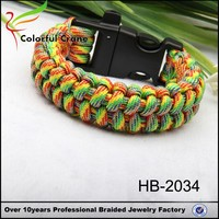 550 paracord colorful handmade survival gray bracelet with plastic clasp