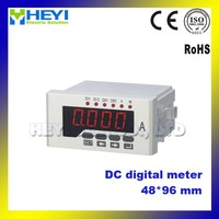 Real-time monitoring Single phase 48*96mm DC Digital Amp Meter