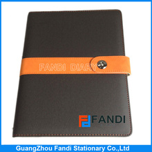 Customized A5 / A6/B5/ B6 pu loose leaf leather notebook covers