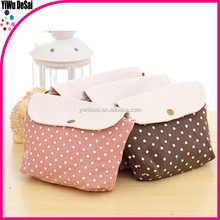 Korean pure and lovely multi-function cotton fashion purse and handbag