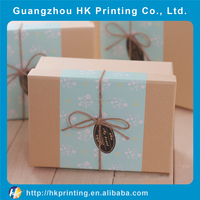 Resuable christmas cardboard paper gift storage box packaging box