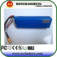 High quality mini helicopter battery 12v 2600mah 3s1p rechargeable lithium polymer battery with PCM and wire