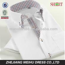 2015 designer shirt double collar custom men new model short sleeve shirts