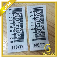 High definition satin woven garment labels with end folded