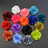 Boutonniere Brooches 2015 High Quality Fashion Lapel Fabric Flower Handmade Pin for Stick Mens Accessories