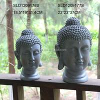 Fiberglass stone finish garden decoration religious statue buddha head