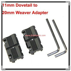 """MTS3025--Hot Sell High Quality Pair Picatinny/W 3/8"""" 11mm Dovetail to 7/8"""" 20mm Weaver Picatinny Rail Adapter Mount"""