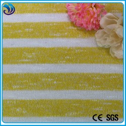 polyester rayon spandex coarse jacquard knit fabric stripes for garment