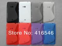 S Line Soft TPU Gel Cover Case for Nokia Lumia 625 Back Cover
