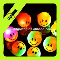 Smile face led finger light ring yiwu supplier