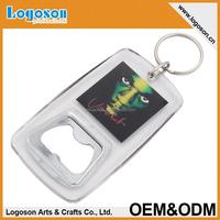 China Wholesale Cheap Bulk Custom Plastic Acrylic KeyChains bottle opener