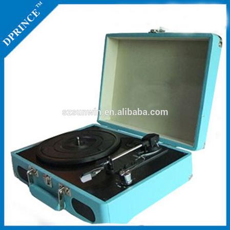 Protable Rétro Valise Vinyle Platine avec mp3 jouer