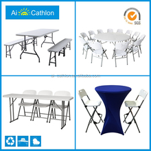 HDPE blow molding plastic folding table and chair ,plastic foldable table and chair