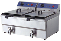 Professional 2x10L commercial electric oil outlet deep fryers for chiken