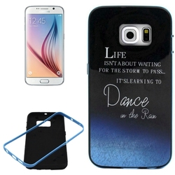 Hot Rubber Back Case for Samsung galaxy S6 edge case with PC Frame