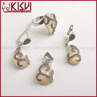 Fashion jewelry tai silver jewelry set hot sale